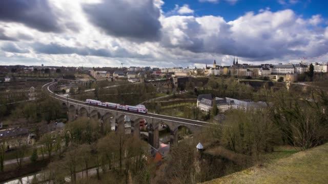 vidéos et rushes de luxembourg-ville - time lapse - grand duché du luxembourg