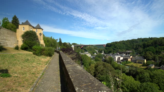 Luxembourg Kirchberg with wall