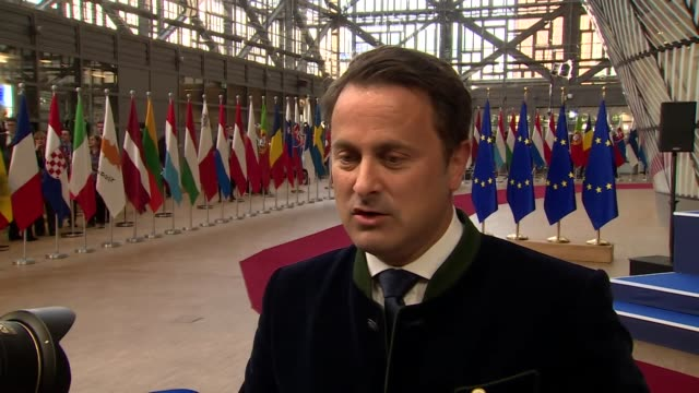 Luxembourg Prime Minister Xavier Bettel saying the 'door for Brexit is nearly closed and we are near the fire exit now'