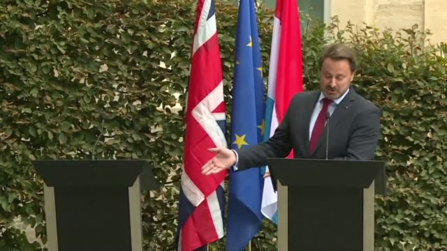 luxembourg prime minister xavier bettel tells british prime minister boris johnson that the clock is ticking on brexit after johnson skipped the... - prime minister video stock e b–roll