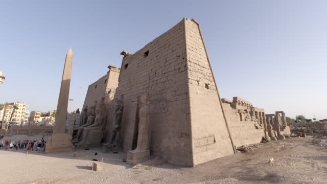 luxor temple, egypt - luxor thebes stock videos & royalty-free footage