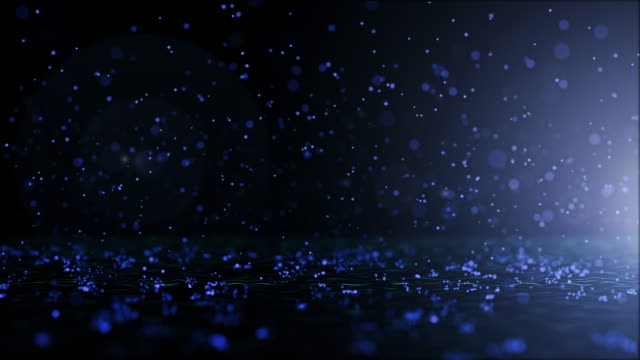 luxurious blue sparkling particles bounce background - performing arts event stock videos & royalty-free footage