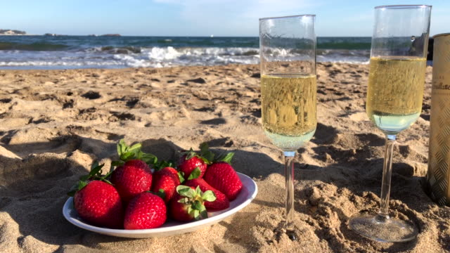 Luxury aperitif on beach