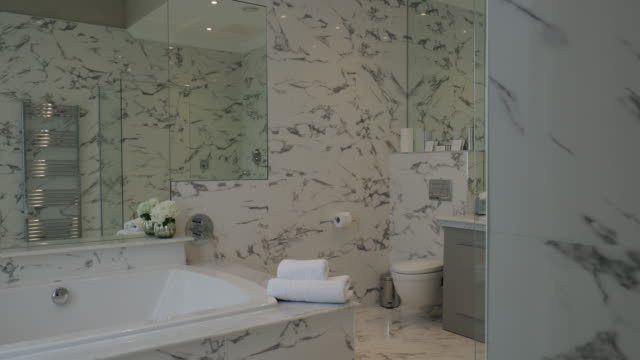 luxury bathroom interior - bathroom stock videos & royalty-free footage