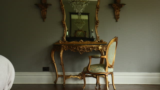 luxury bedroom dressing table - ornate stock videos & royalty-free footage