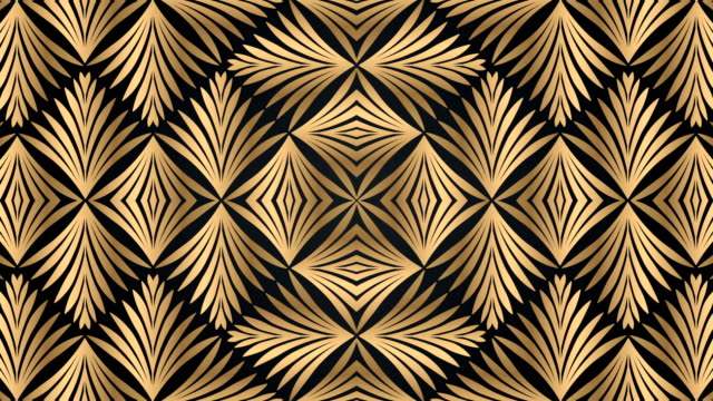 luxury black and golden geometric pattern - 1920 stock videos & royalty-free footage