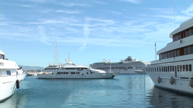 hd: luxury boat in monaco - yacht stock videos and b-roll footage