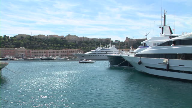 hd: luxury boats in monaco - monaco stock videos and b-roll footage