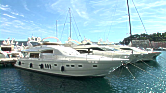 hd: luxury boats in monaco - monte carlo stock videos & royalty-free footage