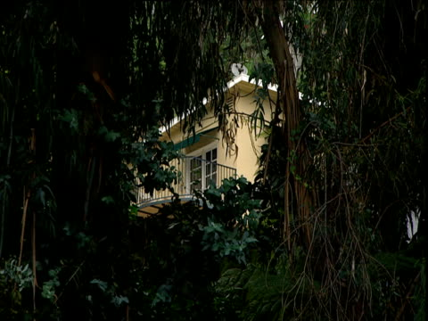 luxury bungalow hidden behind trees chateau marmont sunset strip los angeles - 2000s style stock videos & royalty-free footage