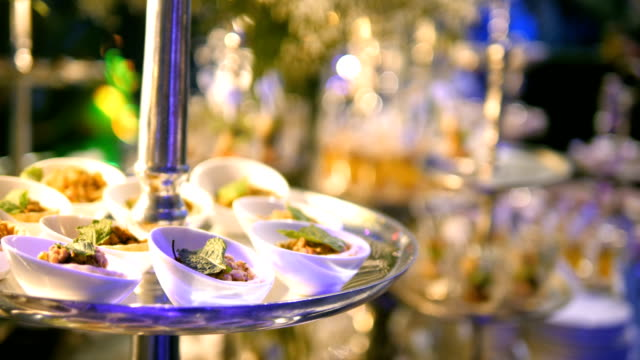 luxury catering food - luxury stock videos & royalty-free footage