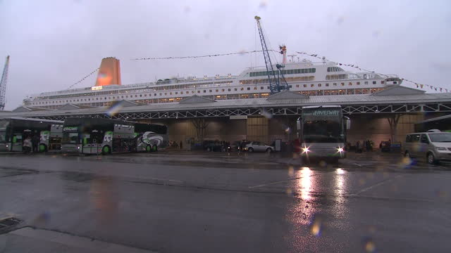 A luxury cruise liner described by some as a 'plague ship' after hundreds of passengers fell ill has returned to dock in Southampton Around 300...