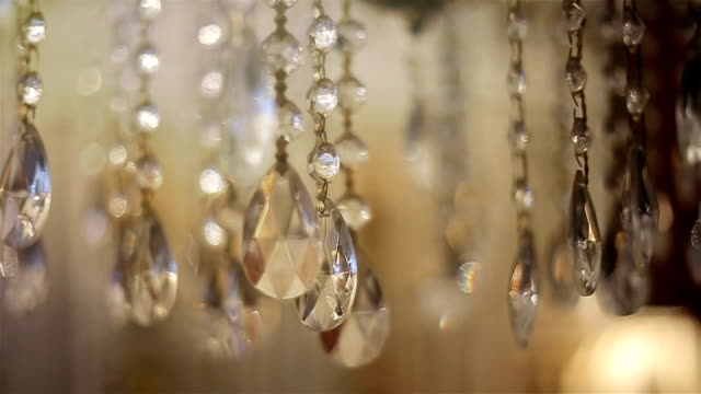 Luxury crystal chandelier,close up