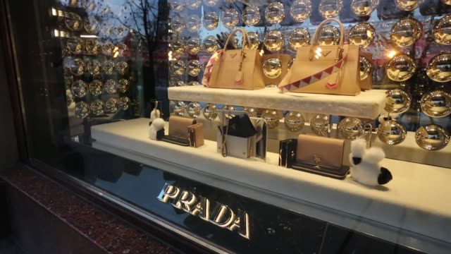Luxury department stores on Red Square in Moscow Russia on Wednesday Dec 28 Cartier Gucci Prada