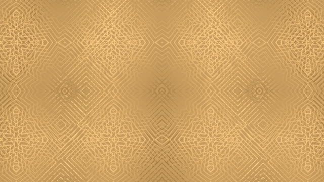luxury golden geometric pattern - floral pattern stock videos & royalty-free footage