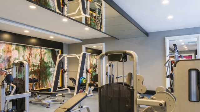 luxury gym center - exercise machine stock videos & royalty-free footage
