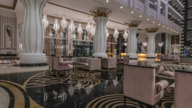luxury hotel lobby - lobby stock videos & royalty-free footage