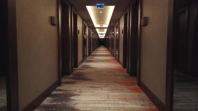 luxury hotel rooms corridor - hotel stock videos & royalty-free footage