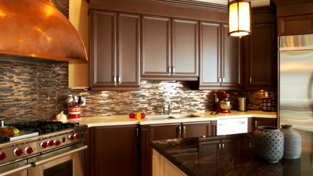 luxury kitchen - kitchen counter stock videos & royalty-free footage