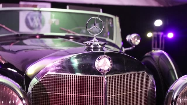 luxury mercedes limousine used to carry adolf hitler around germany will be auctioned in the us state of arizona next month one of only four such... - mercedes benz stock videos & royalty-free footage