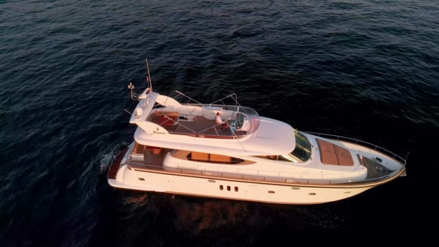 luxury must be comfortable, otherwise is not luxury - yacht life - yacht stock videos & royalty-free footage