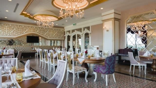 luxury ottoman restaurant setting - ornate stock videos & royalty-free footage