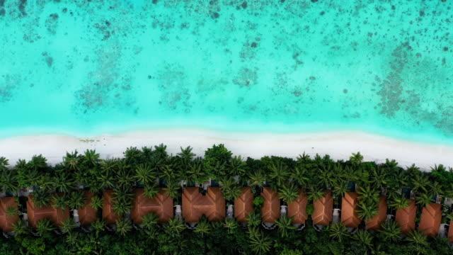 luxury resort in maldives ayada island - holiday villa stock videos & royalty-free footage