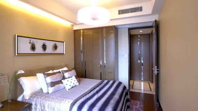 サンプルベッドルーム、豪華な装飾、リアルタイム。