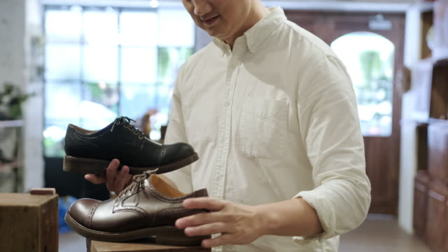 luxury shoe shopping in taipei - dress shoe stock videos & royalty-free footage