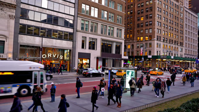 luxury shop at 5th avenue - avenue stock videos & royalty-free footage