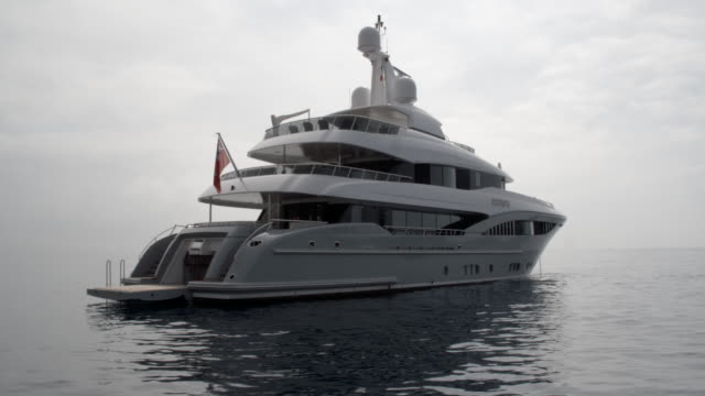 luxury super yacht / nice, france - yacht stock videos and b-roll footage