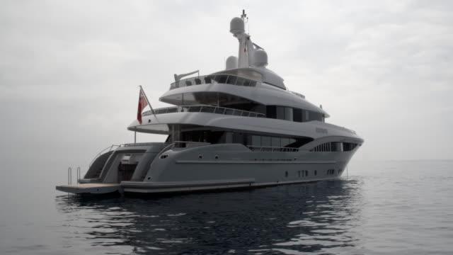 luxury super yacht / nice, france - yacht bildbanksvideor och videomaterial från bakom kulisserna