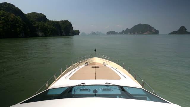 luxury yacht exterior deck - yacht video stock e b–roll