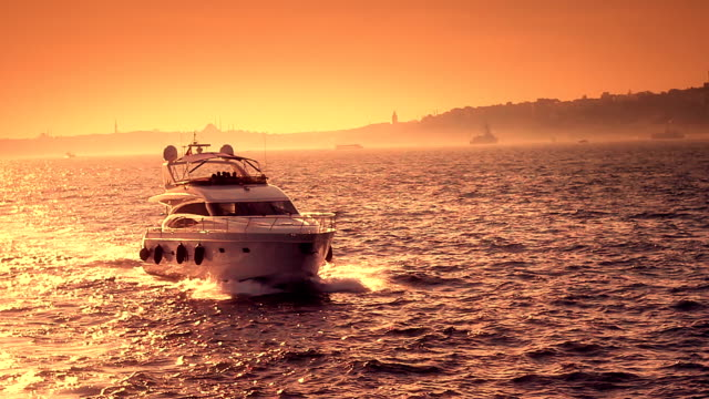 luxury yacht - yacht stock videos & royalty-free footage
