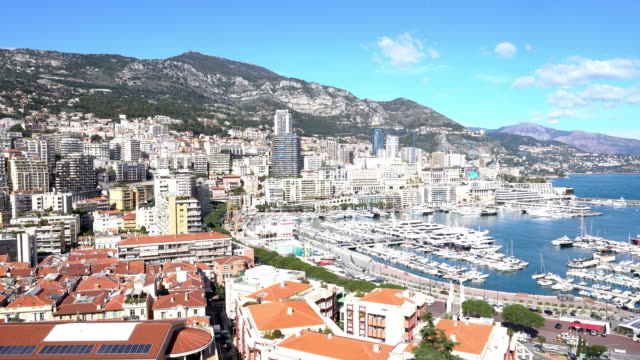 luxury yachts in the bay of monaco - monaco stock videos and b-roll footage