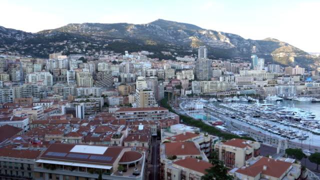 luxury yachts in the bay of monaco - monaco stock videos & royalty-free footage