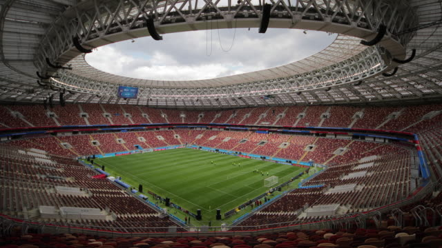 luzhniki stadium moscow russia - luzhniki stadium stock videos & royalty-free footage