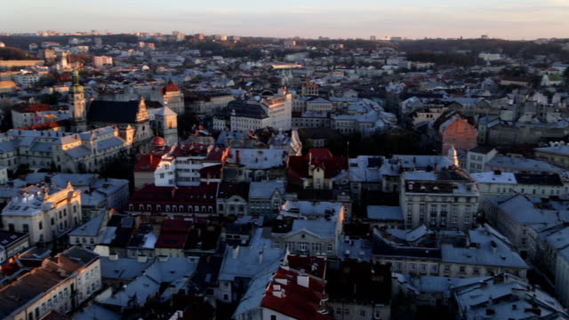 lviv from birdseye - ukraine stock videos & royalty-free footage