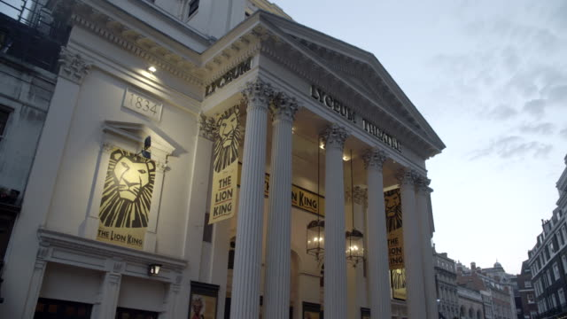 lyceum theatre / london, united kingdom - theatre building stock videos & royalty-free footage
