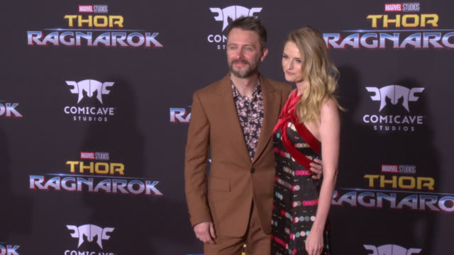 lydia hearst and chris hardwick at the thor ragnarok premiere at the el capitan theatre on october 10 2017 in hollywood california - thor: ragnarok stock videos & royalty-free footage