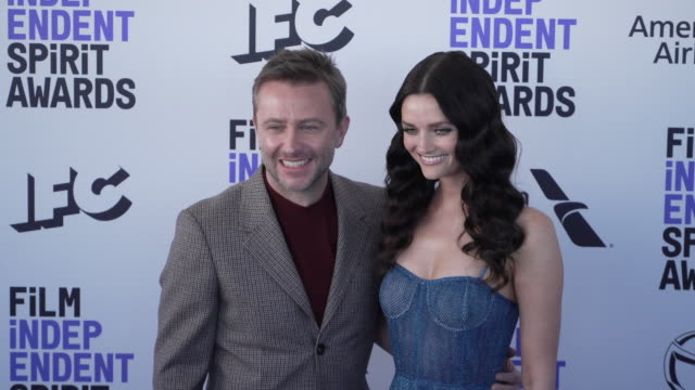 slomo lydia hearst chris hardwick at the 2020 film independent spirit awards on february 08 2020 in santa monica california - film independent spirit awards stock videos & royalty-free footage