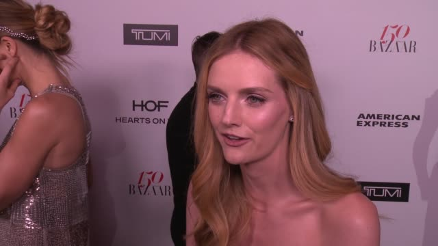 INTERVIEW Lydia Hearst on what brings her out what being fashionable/stylish means to her and who her style icons are at the Harper's BAZAAR...