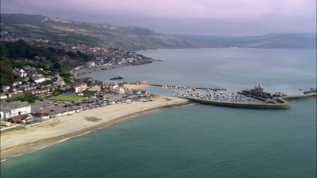 lyme regis and the cob - lime stock videos & royalty-free footage
