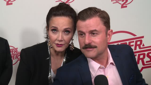 interview lynda carter on coming back for the sequel at super troopers 2 new york premiere presented by fox searchlight pictures at regal union... - super troopers 2 stock videos & royalty-free footage