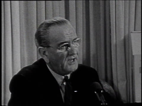 lyndon johnson announcing withdrawal from presidential race / laconia, new hampshire, united states - 1968 stock videos & royalty-free footage