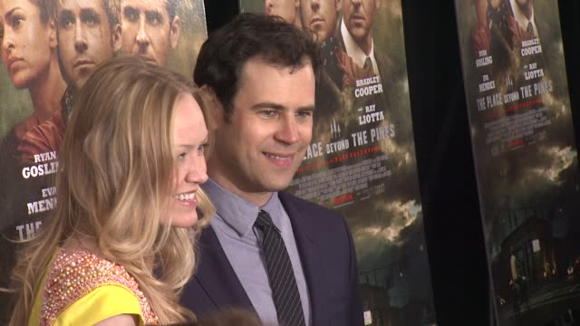 """lynette howell and alex orlovsky at """"the place beyond the pines"""" new york premiere presented by focus features at landmark sunshine cinema on march... - ランドマークサンシャインシアター点の映像素材/bロール"""
