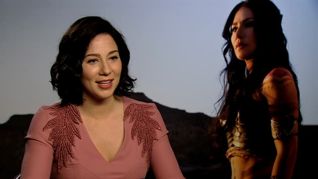 Lynn Collins on Taylor Kitsch at John Carter Interviews at Corinthia Hotel London on March 2 2012 in London England