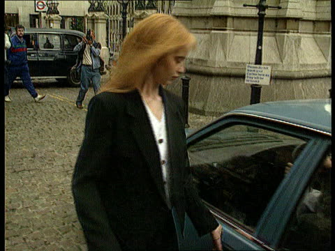 lynn siddons murder reconstruction london charing cross la ornate tower tilt down lynne's sister ms lynne's sister towards and gets into car... - charing cross stock videos and b-roll footage