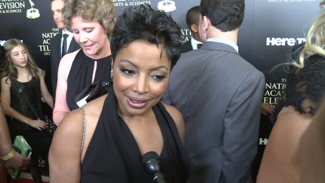lynn toler on the event at the 2014 daytime emmy awards at the beverly hilton hotel on june 22, 2014 in beverly hills, california. - the beverly hilton hotel点の映像素材/bロール