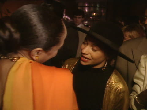 MS Lynn Whitfield and Debbie Allen in crowd greeting other guest at the Director's Guild of America Theater